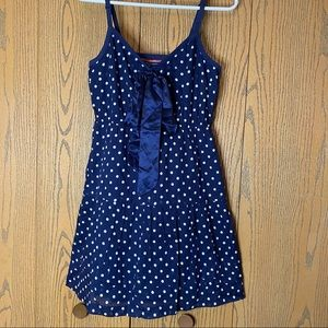 AEO Polka Dot Navy Blue Summer Dress Sz 4